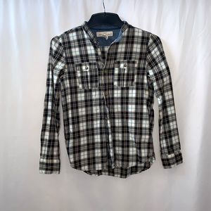 H&M Boys Plaid Button Down Casual Shirt Size 9-10Y
